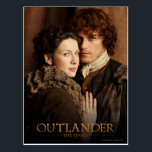 "Outlander | Jamie &amp; Claire Embrace Photograph Postcard<br><div class=""desc"">Photographic gallery image of Jamie and Claire together,   from Season 1 of the Outlander television series</div>"