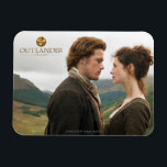 "Outlander | Jamie &amp; Claire Face To Face Magnet<br><div class=""desc"">Photographic gallery image of Jamie and Claire face to face in the Highlands,  from Season 1 of the Outlander television series</div>"