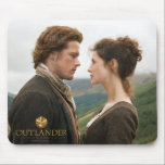 "Outlander | Jamie &amp; Claire Face To Face Mouse Pad<br><div class=""desc"">Photographic gallery image of Jamie and Claire face to face in the Highlands,  from Season 1 of the Outlander television series</div>"