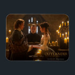 "Outlander | Jamie &amp; Claire&#39;s Wedding Magnet<br><div class=""desc"">Episodic Photograph of Jamie and Claire&#39;s wedding from Season 1 of the Outlander television series</div>"
