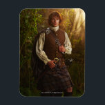 "Outlander | Jamie Fraser - In Woods Magnet<br><div class=""desc"">Jamime Fraser from Outlander in Season 1.</div>"