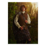 Outlander | Jamie Fraser - In Woods Poster