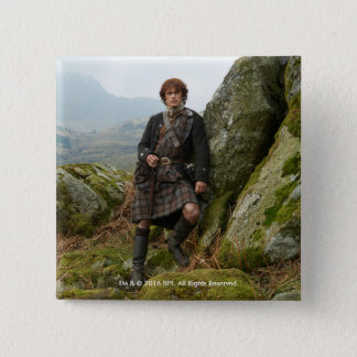 Outlander | Jamie Fraser - Leaning On Rock Button