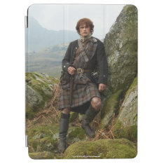 Outlander | Jamie Fraser - Leaning On Rock Ipad Air Cover at Zazzle