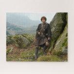 "Outlander | Jamie Fraser - Leaning On Rock Jigsaw Puzzle<br><div class=""desc"">Jamie Fraser from Outlander Season 1.</div>"