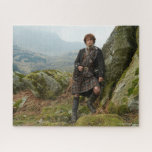 "Outlander | Jamie Fraser - Leaning On Rock Jigsaw Puzzle<br><div class=""desc"">Jamie Fraser from Outlander Season 1.</div>"