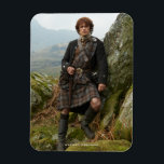 "Outlander | Jamie Fraser - Leaning On Rock Magnet<br><div class=""desc"">Jamie Fraser from Outlander Season 1.</div>"
