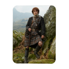Outlander | Jamie Fraser - Leaning On Rock Magnet at Zazzle