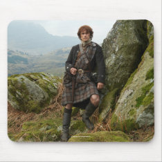 Outlander | Jamie Fraser - Leaning On Rock Mouse Pad at Zazzle