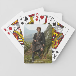 Outlander | Jamie Fraser - Leaning On Rock Playing Cards