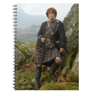 Outlander | Jamie Fraser - Leaning On Rock Spiral Notebook