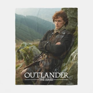 Outlander | Reclining Jamie Fraser Photograph Fleece Blanket