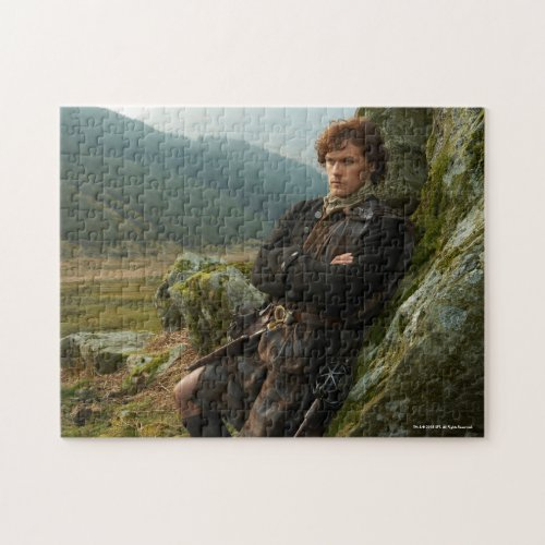 Outlander  Reclining Jamie Fraser Photograph Jigsaw Puzzle
