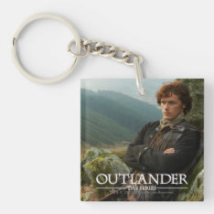 Outlander | Reclining Jamie Fraser Photograph Keychain at Zazzle