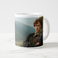 Outlander | Reclining Jamie Fraser Photograph Large Coffee Mug at Zazzle