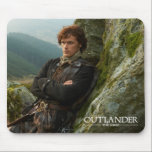 "Outlander | Reclining Jamie Fraser Photograph Mouse Pad<br><div class=""desc"">Photographic gallery image of James Alexander Malcolm MacKenzie Fraser,  leaning against a Highland crag,  from Season 1 of the Outlander television series</div>"