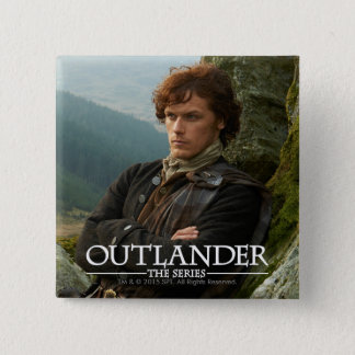 Outlander | Reclining Jamie Fraser Photograph Pinback Button