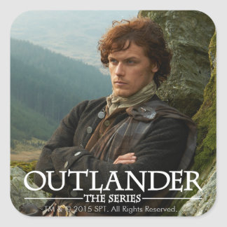 Outlander | Reclining Jamie Fraser Photograph Square Sticker