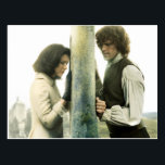"Outlander Season 3 | Claire and Jamie Postcard<br><div class=""desc"">Image of Jamie and Claire together,  from Season 3 of the Outlander television series</div>"