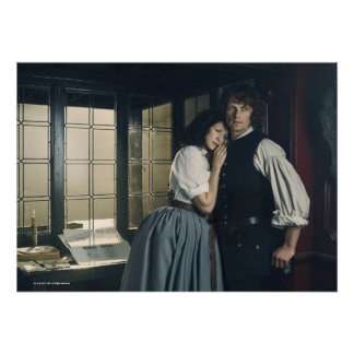 Outlander Season 3 | Jamie and Claire Affection Poster