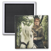 Outlander Season 4 | Jamie Riding White Horse Magnet