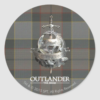 Outlander | The Fraser Brooch Classic Round Sticker