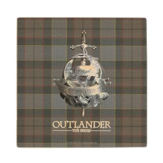 Outlander | The Fraser Brooch Wood Coaster