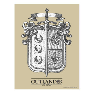 Outlander | The Fraser Crest Postcard