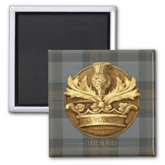 Outlander | The Thistle Of Scotland Emblem 2 Inch Square Magnet