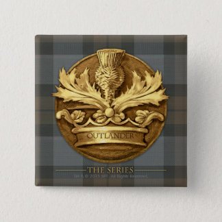 Outlander | The Thistle Of Scotland Emblem Button
