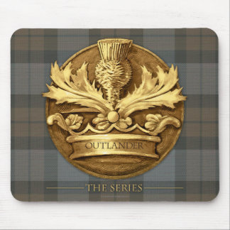 Outlander | The Thistle Of Scotland Emblem Mouse Pad