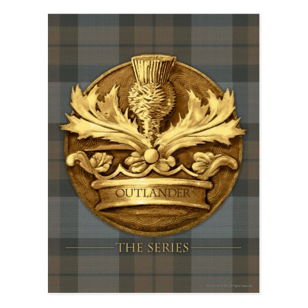 Outlander | The Thistle Of Scotland Emblem Postcard