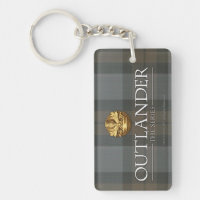 Outlander Title and Crest Double-Sided Rectangular Acrylic Keychain