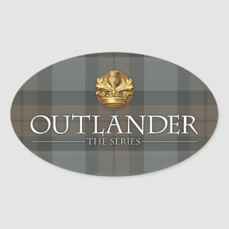 Outlander Title and Crest Oval Sticker