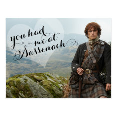 Outlander | Valentine's Day - Sassenach Postcard at Zazzle