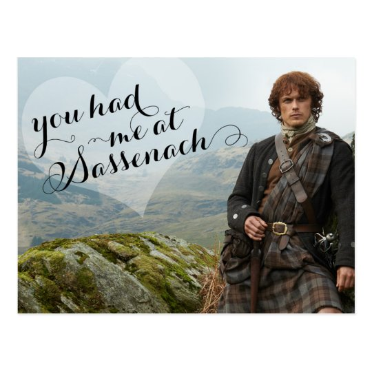 card craft for valentine day - Outlander Valentine s Day Sassenach Postcard