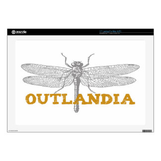 "Outlandia Dragonfly in Amber 17"" Laptop Decals"