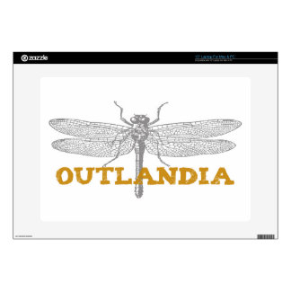 Outlandia Dragonfly in Amber Skin For Laptop