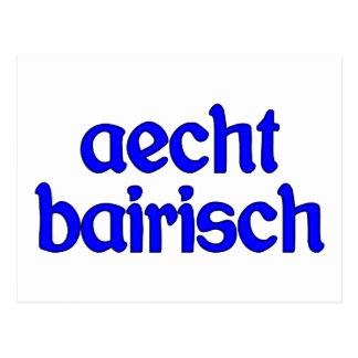 outlaw bairisch genuinly Bavarian Post Card