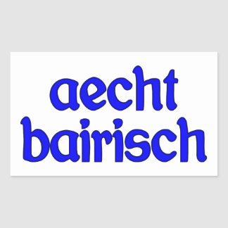 outlaw bairisch genuinly Bavarian Rectangle Sticker