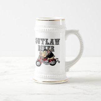 Outlaw Biker Beer Stein