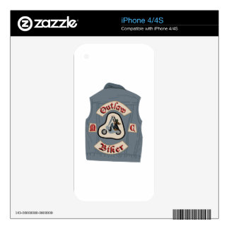 Outlaw Biker iPhone 4 Decal