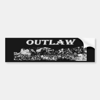 Outlaw Bumper Sticker