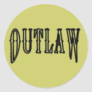 Outlaw Classic Round Sticker