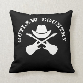 Outlaw Country Throw Pillow