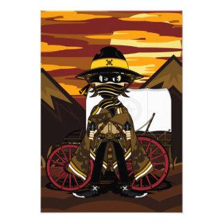 Outlaw Cowboy RSVP Card Custom Invitations