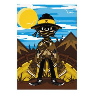 Outlaw Cowboy RSVP Card Announcement