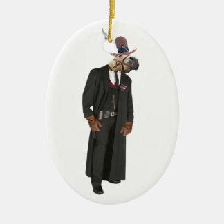 Outlaw ED Ceramic Ornament