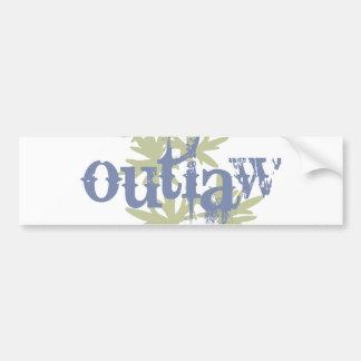 Outlaw & Green Leaf Bumper Sticker