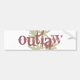 Outlaw & Green Leaf Bumper Stickers